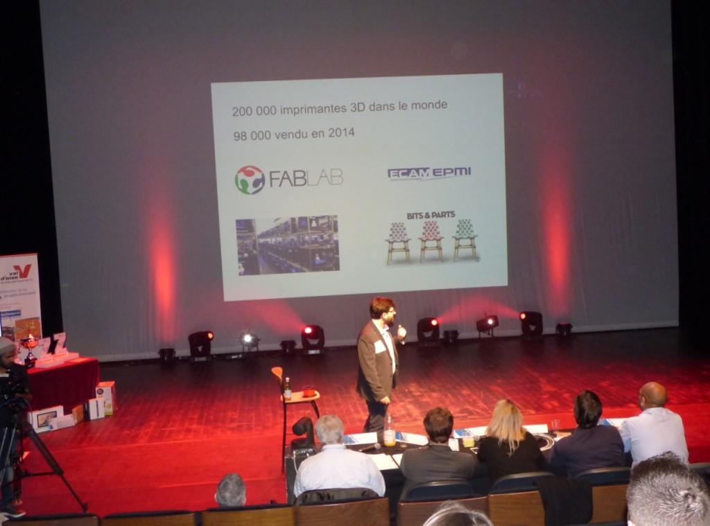 Aleksander Litvak (ECAM-EPMI), classé 2ème au Concours Challenge ZEE Entrepreneur (2 avril 2015) pour son projet de création d'entreprise Craft Factory