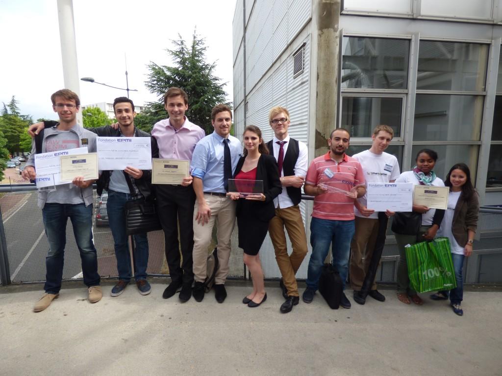 Vainqueurs Journée de l'innovation et de l'Entrepreneuriat Etudiant JI2E