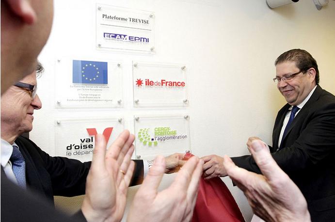 Inauguration de la plateforme TREVISE au sein d'ECAM-EPMI, le 10 Février 2015
