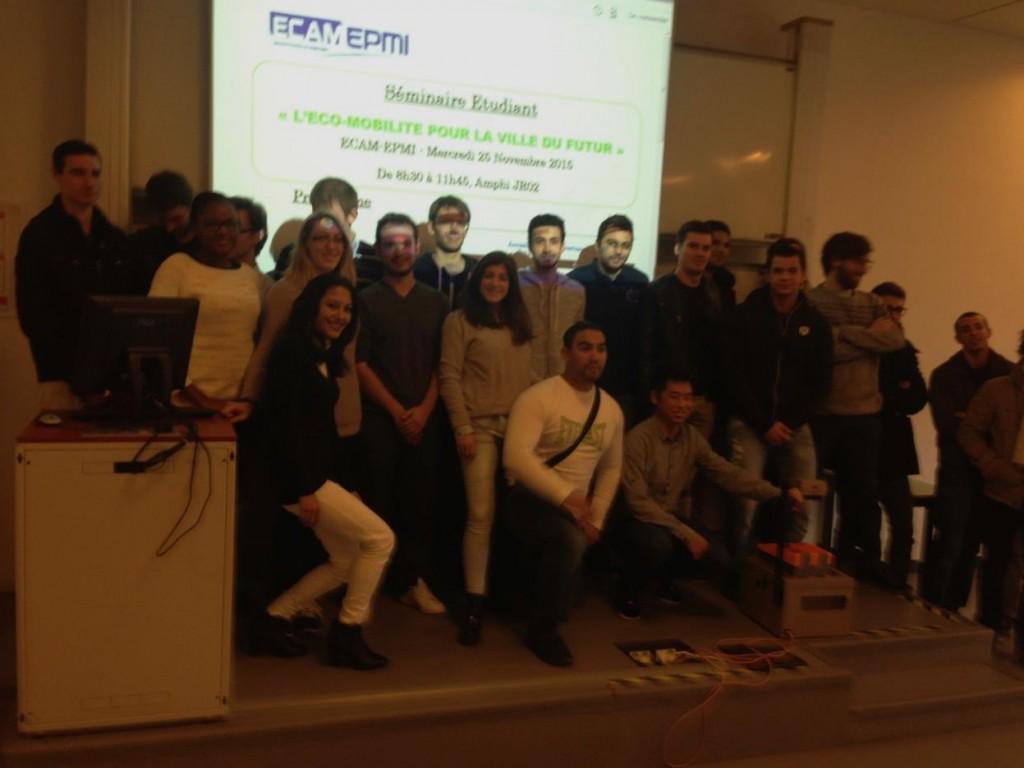 Séminaire Etudiant au sein d'ECAM-EPMI sur le thème de « l'Eco-Mobilité pour la Ville du Futur » 3AE EVF, 25 novembre 2015