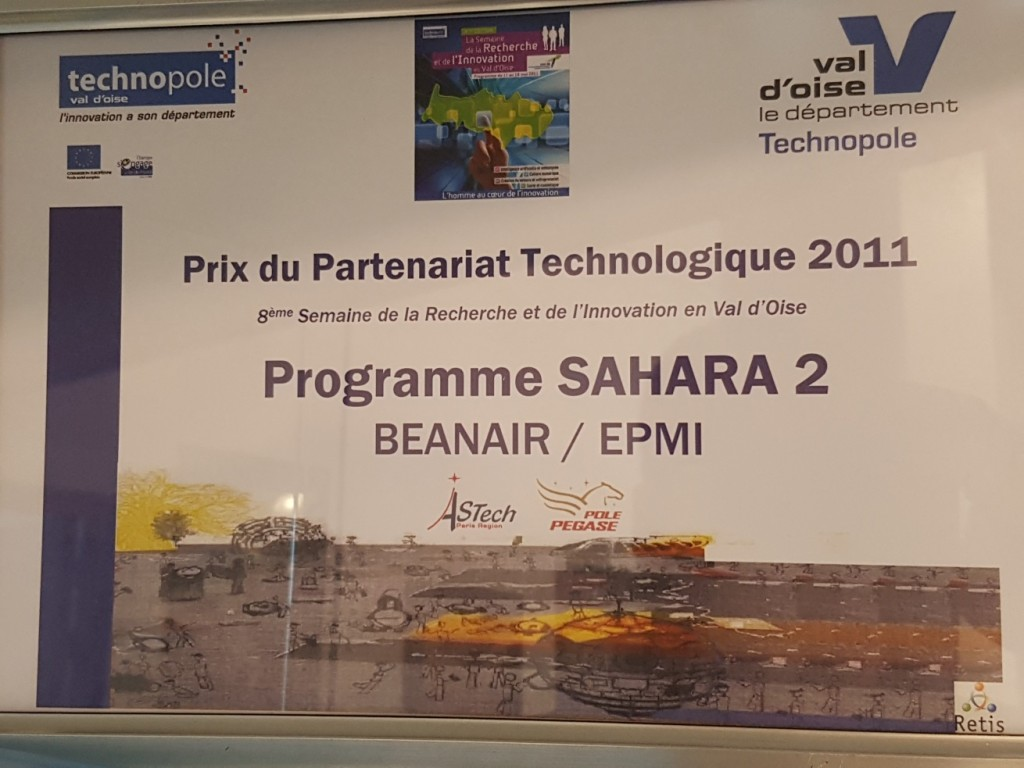 Une récompense qui distingue ECAM-EPMI pour le Projet SAHARA - 2011