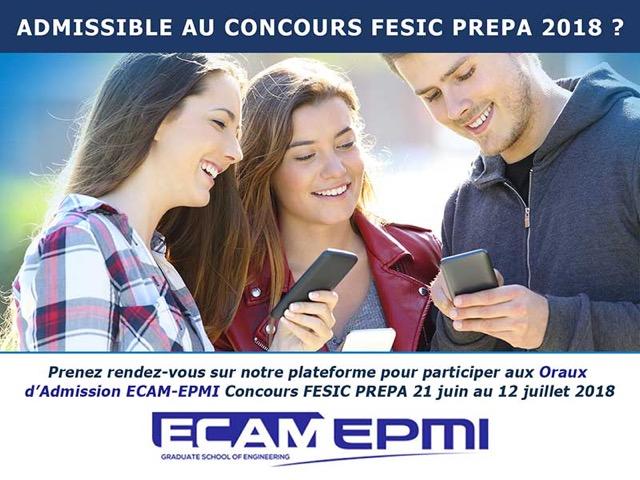 ORAUX D'ADMISSION ECAM-EPMI CONCOURS FESIC PRÉPA